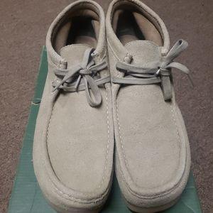 Clarks Men's Stinson Hi Sand Suede Casual Shoes si